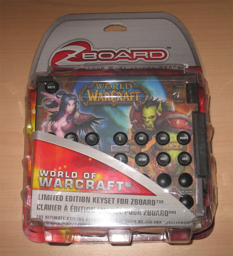 Photo du clavier ZBoard dédié aux joueurs (avec en option le clavier spécial World of Warcraft).