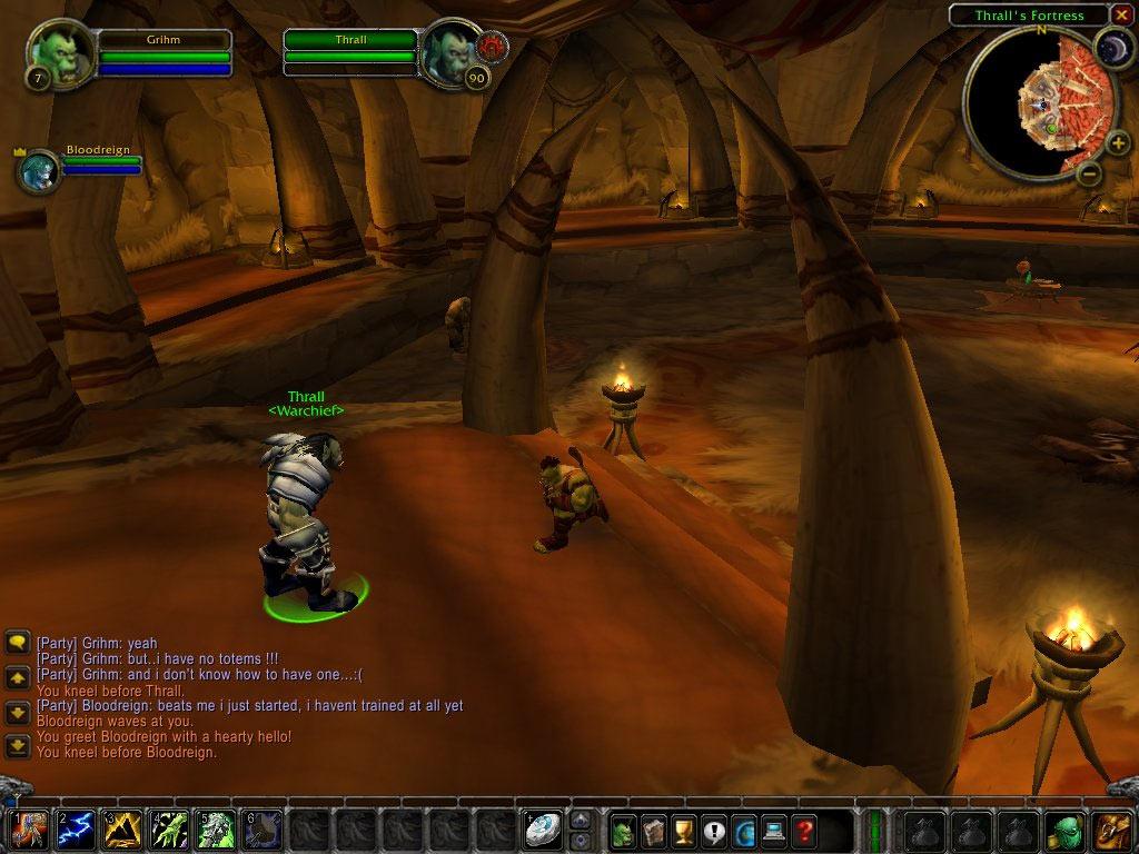 Passage obligé pour tous les Orcs : le salut à Thrall.  Merci à Bloody Grin pour le screenshot.
