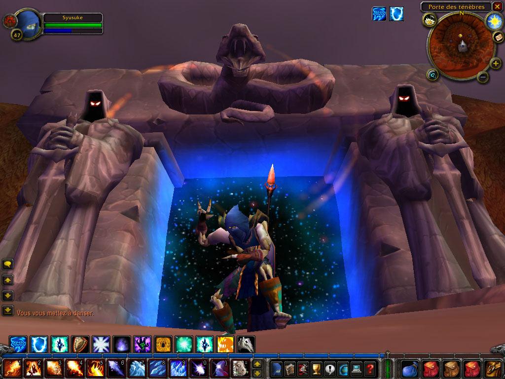 Petite danse devant le Dark Portal. Screenshot réalisé par Jean.