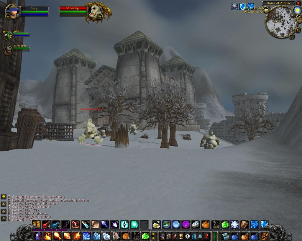 La zone Alterac Mountains.  Merci à Skipy pour le screenshot.