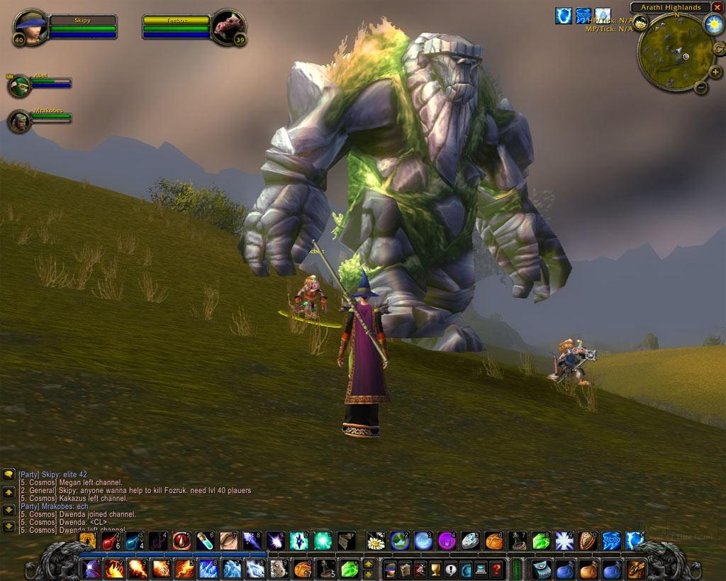 Un Mountain Giant.  Screenshot envoyé par Skipy.