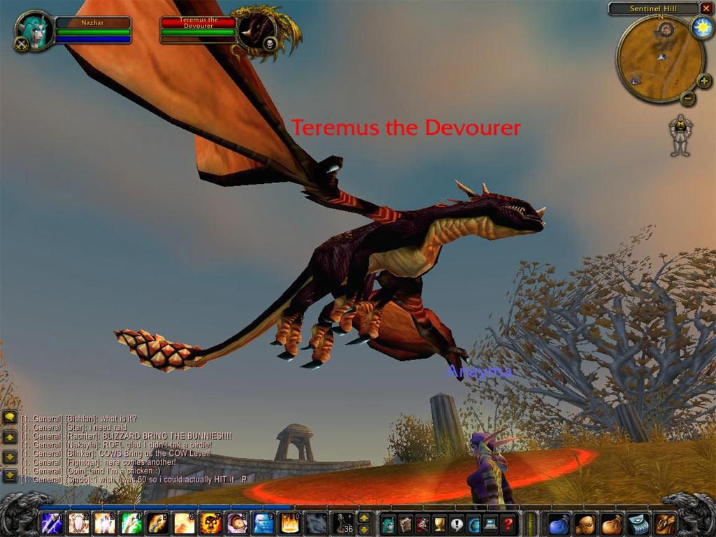 Screenshot de la fin de la beta US de World of Warcraft.