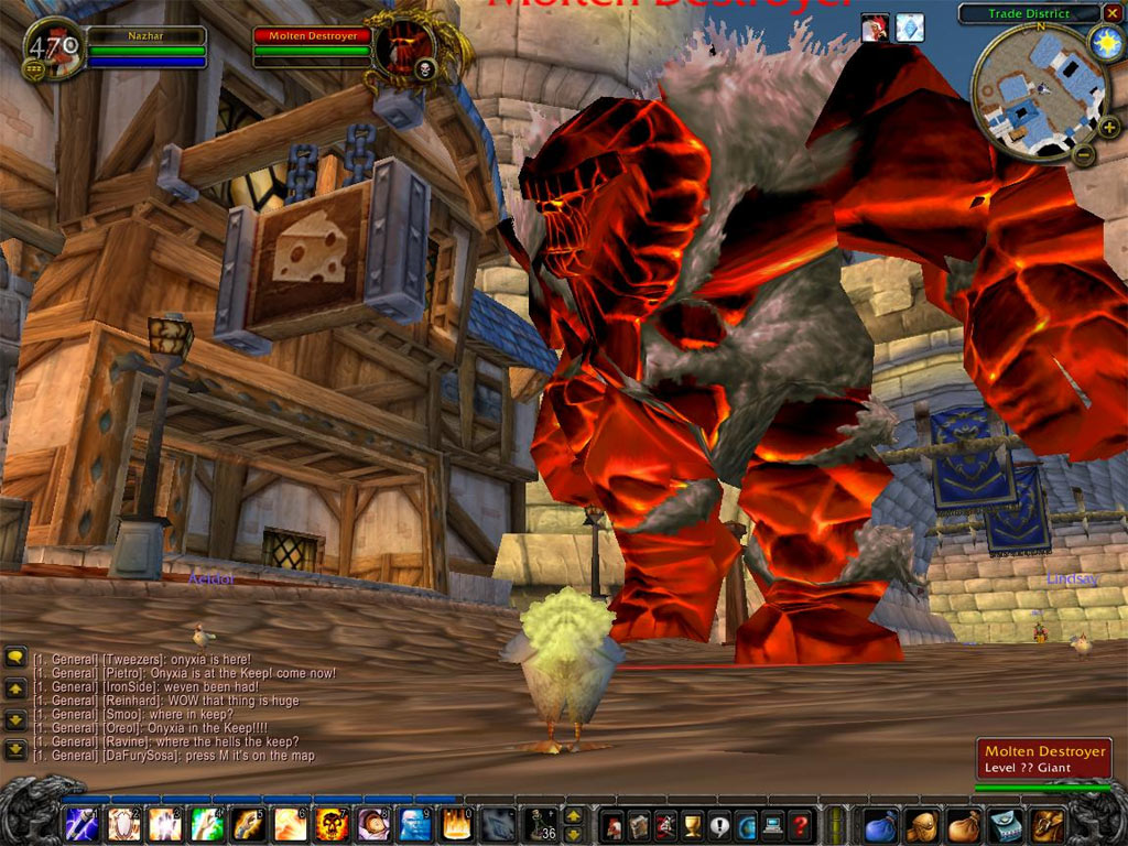 Screenshot de la fin de la beta US de World of Warcraft.