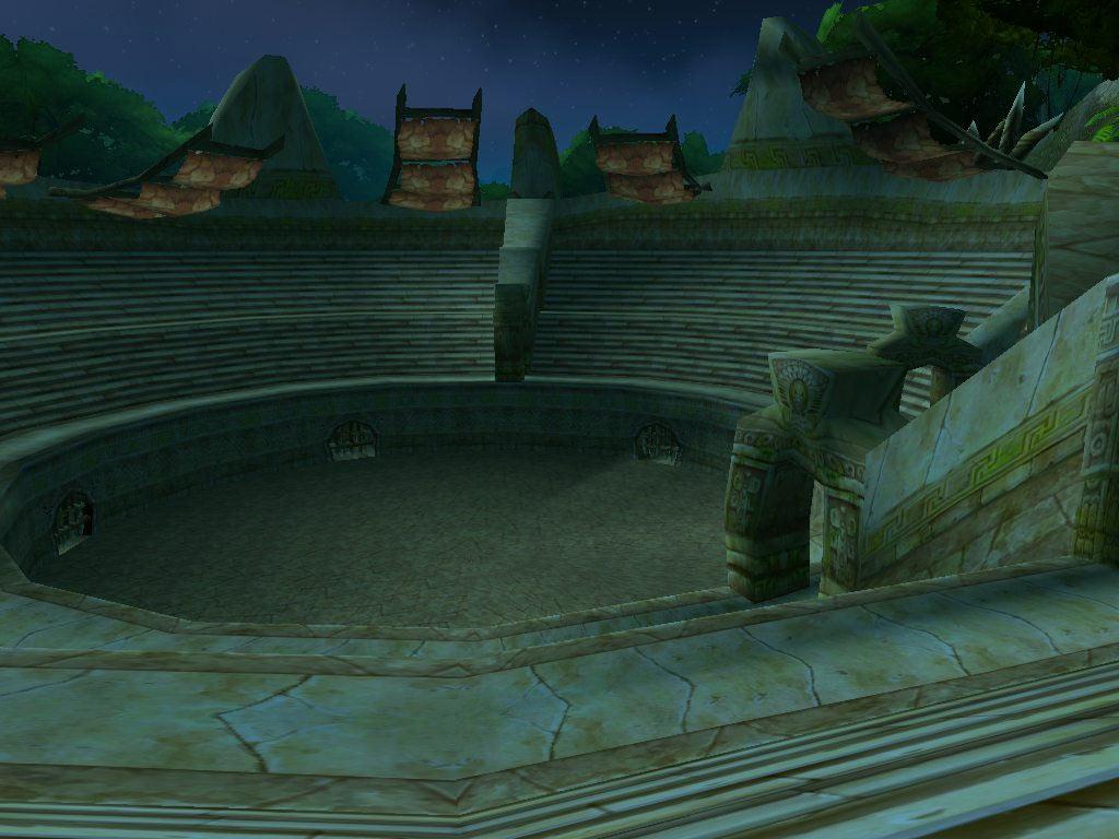 Une arène de World of Warcraft. Screenshot envoyé par Malakhian.