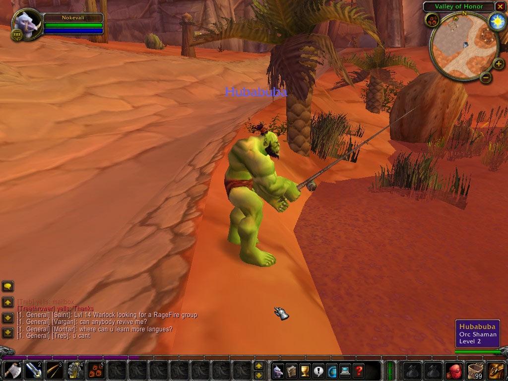 Un Orc à la plage... Screenshot envoyé par Malrodick.