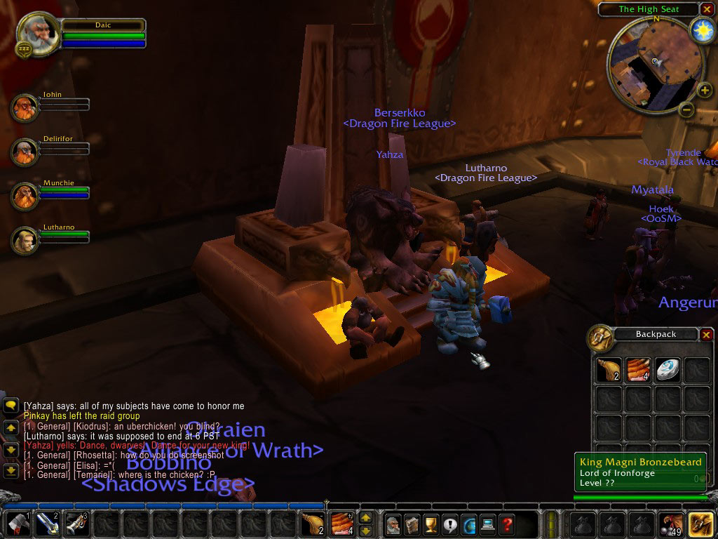Un ours sur le trône... Screenshot envoyé par Malrodick.