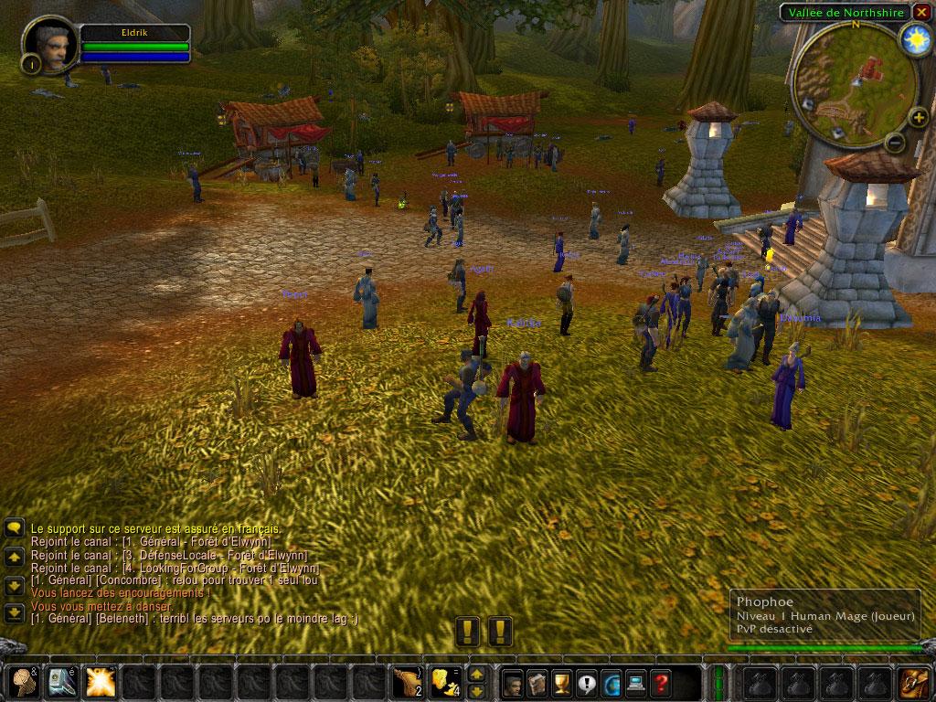 Les newbies zones étaient bien pleine au lancement de la beta finale.  Image réalisée par Tiophene.