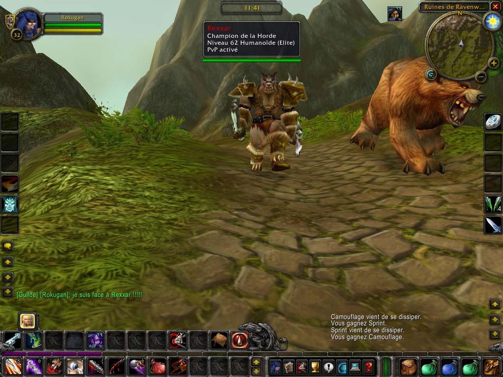 Héros de Warcraft 3: The Frozen Throne, Rexxar est présent dans WoW. Merci à Majoraxox pour l'image.