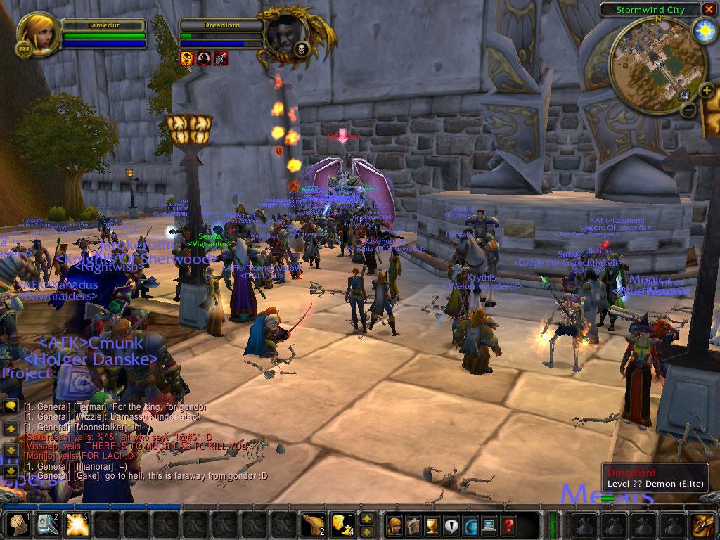 Screenshot du Beta Event organisé à l'occasion de la fin de la beta européenne.