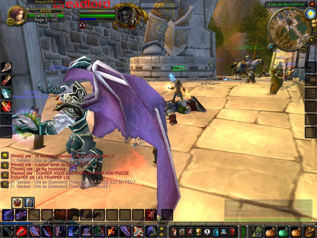 Screenshot du Beta Event européen de World of Warcraft.