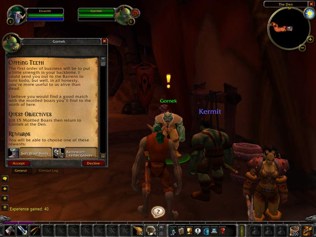 Screenshot de la beta de World of Warcraft.