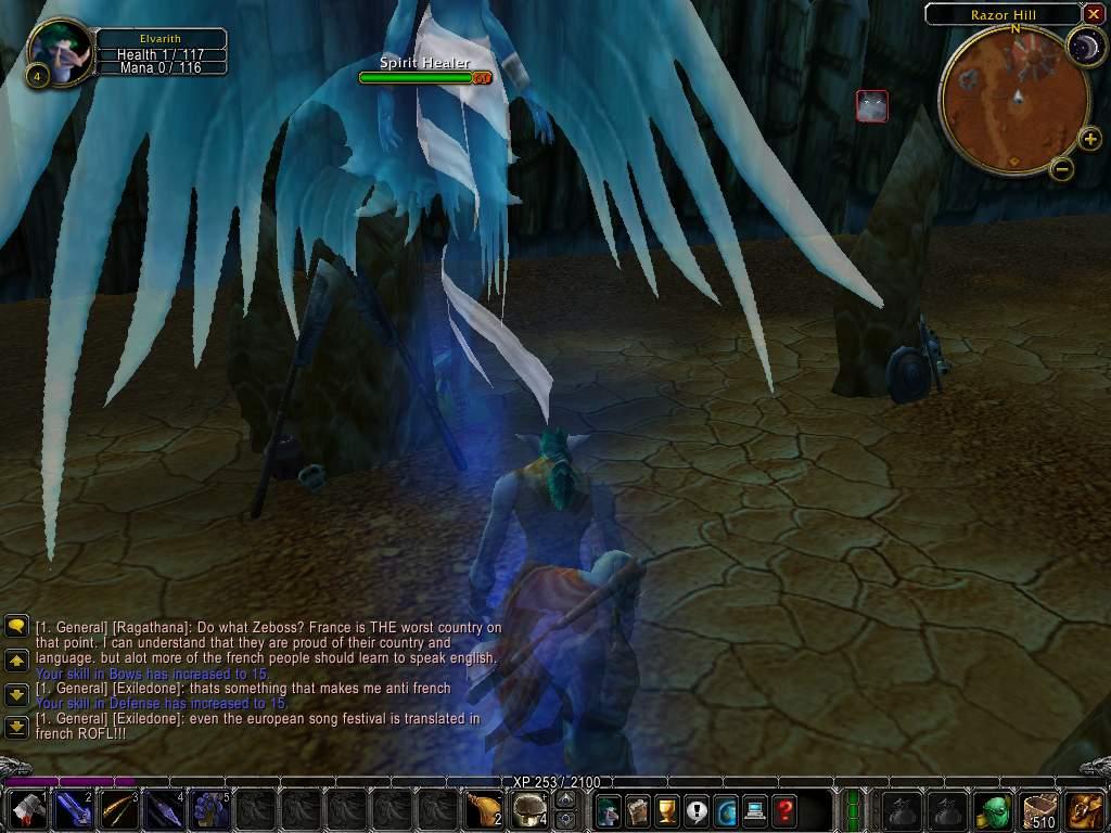 Screenshot de la beta de World of Warcraft.