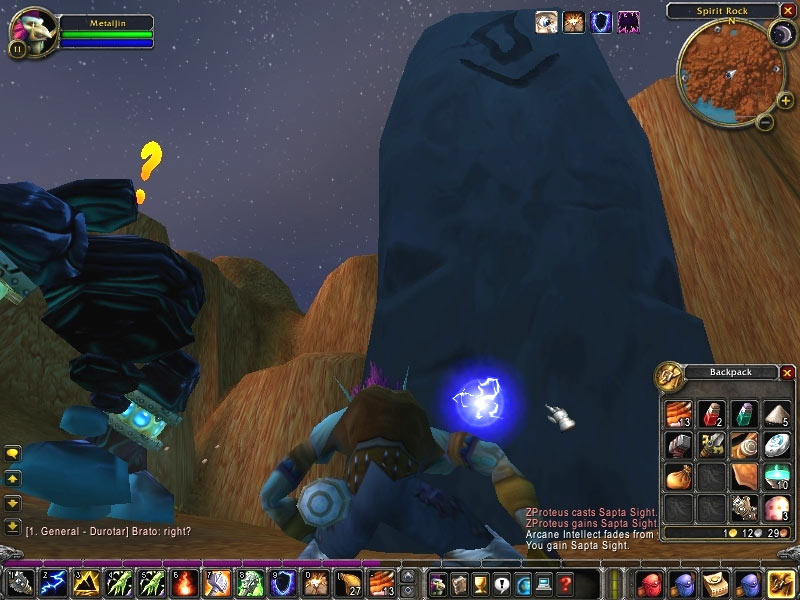 Screenshot de la beta de World of Warcraft (juin 2004)