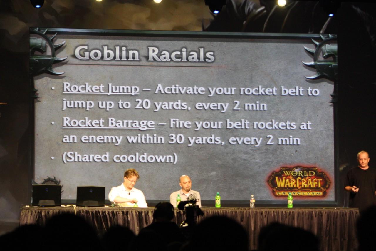 BlizzCon 2009 : Photo de la conférence sur les classes.