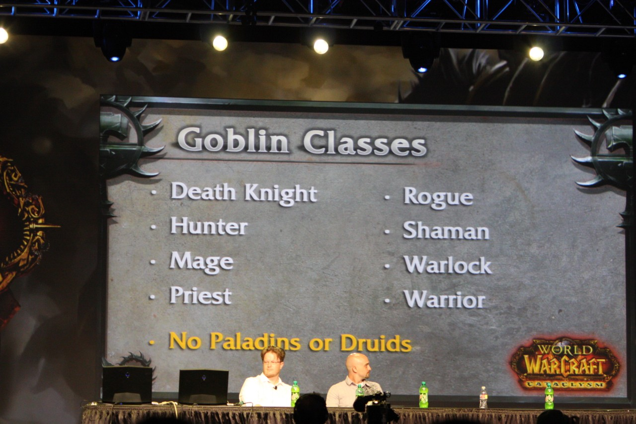 BlizzCon 2009 : Photo de la conférence sur les classes.