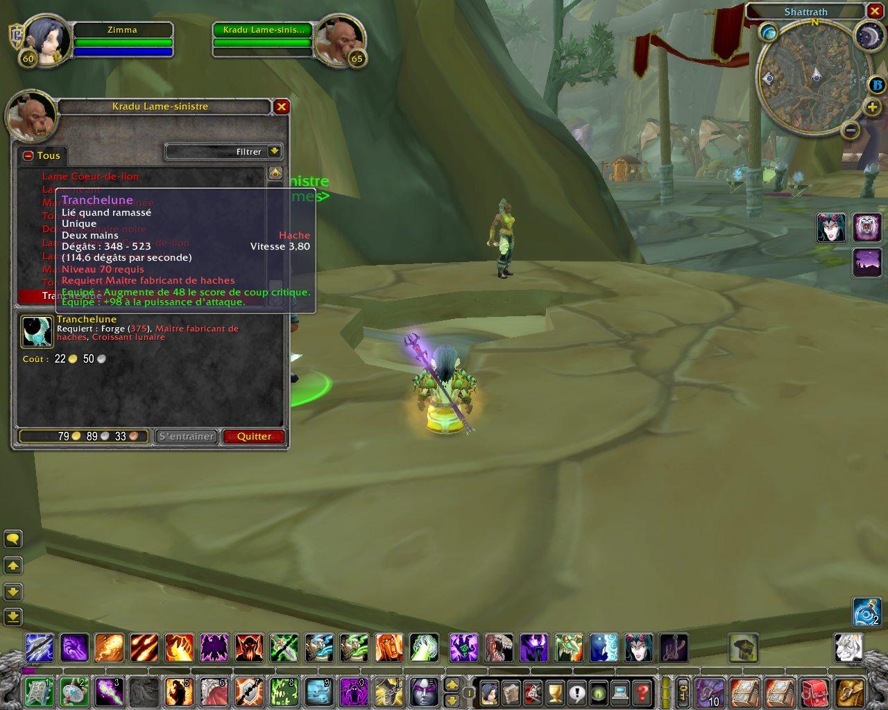 Screenshot de la beta de World of Warcraft: The Burning Crusade (octobre 2006).