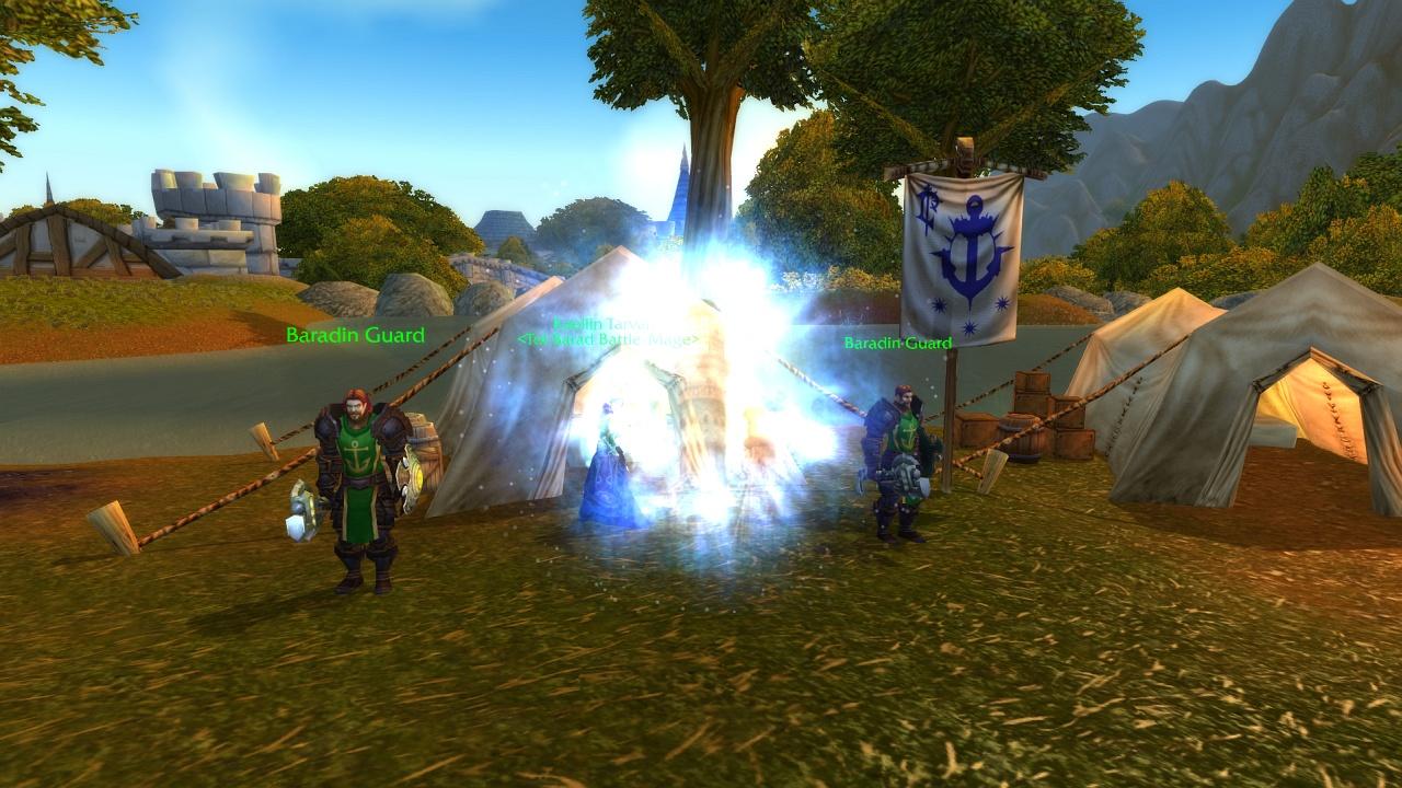 Screenshot de World of Warcraft: Cataclysm - Portails à Hurlevent et Orgrimmar.