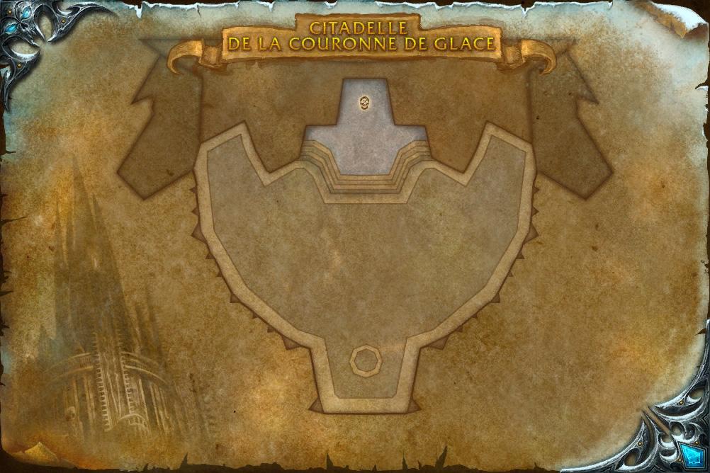 Carte de l'instance de la Citadelle de la Couronne de glace