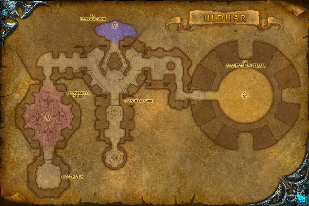 Carte de l'instance Ulduar