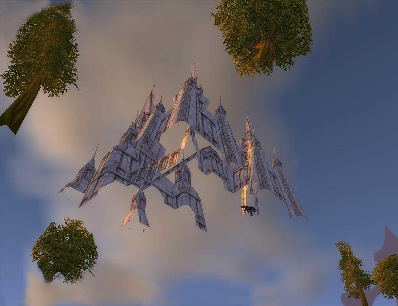 Sous-Stormwind avec vue sur la cathédrale (image de WoW-Underground)