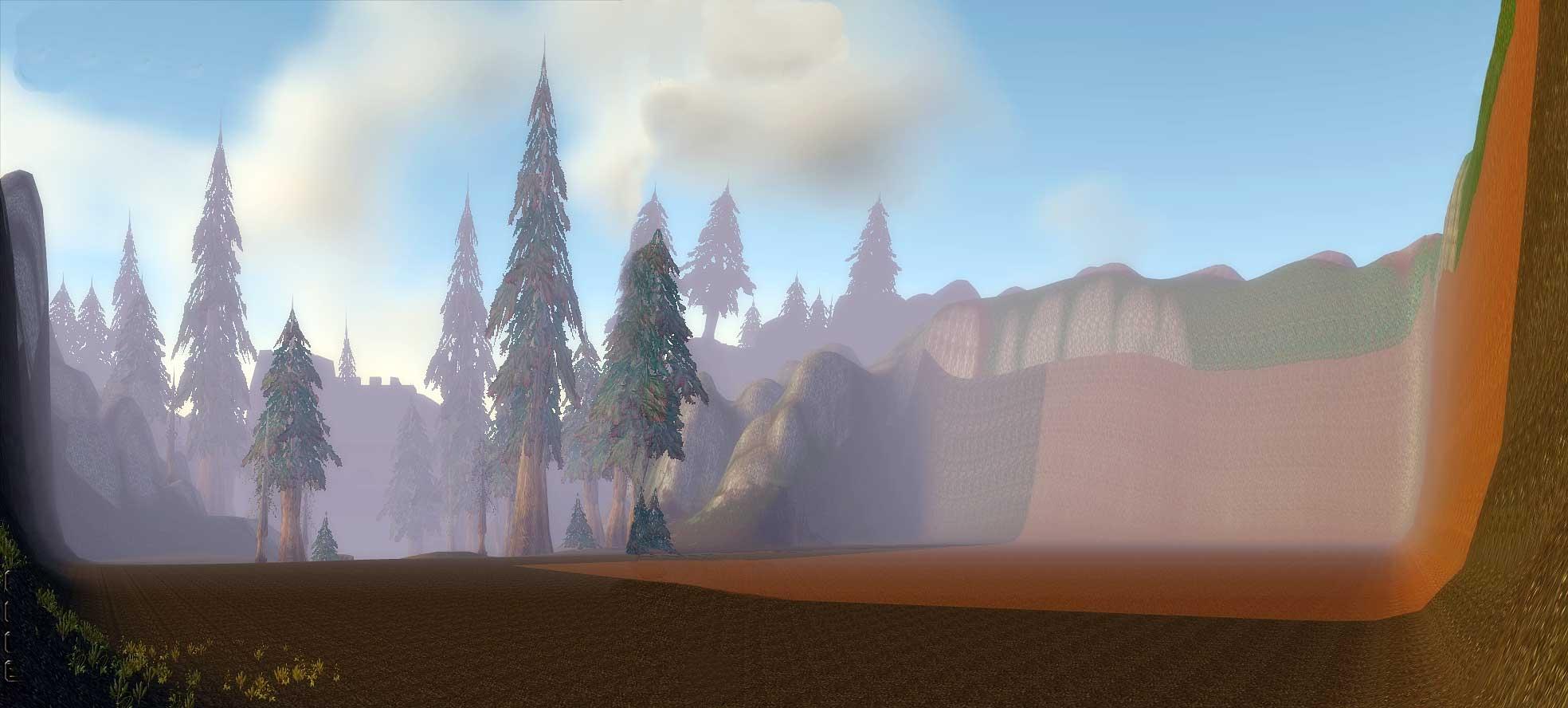 Gilnéas, derrière le portail, zone non-accessible (image de WoW-Underground)