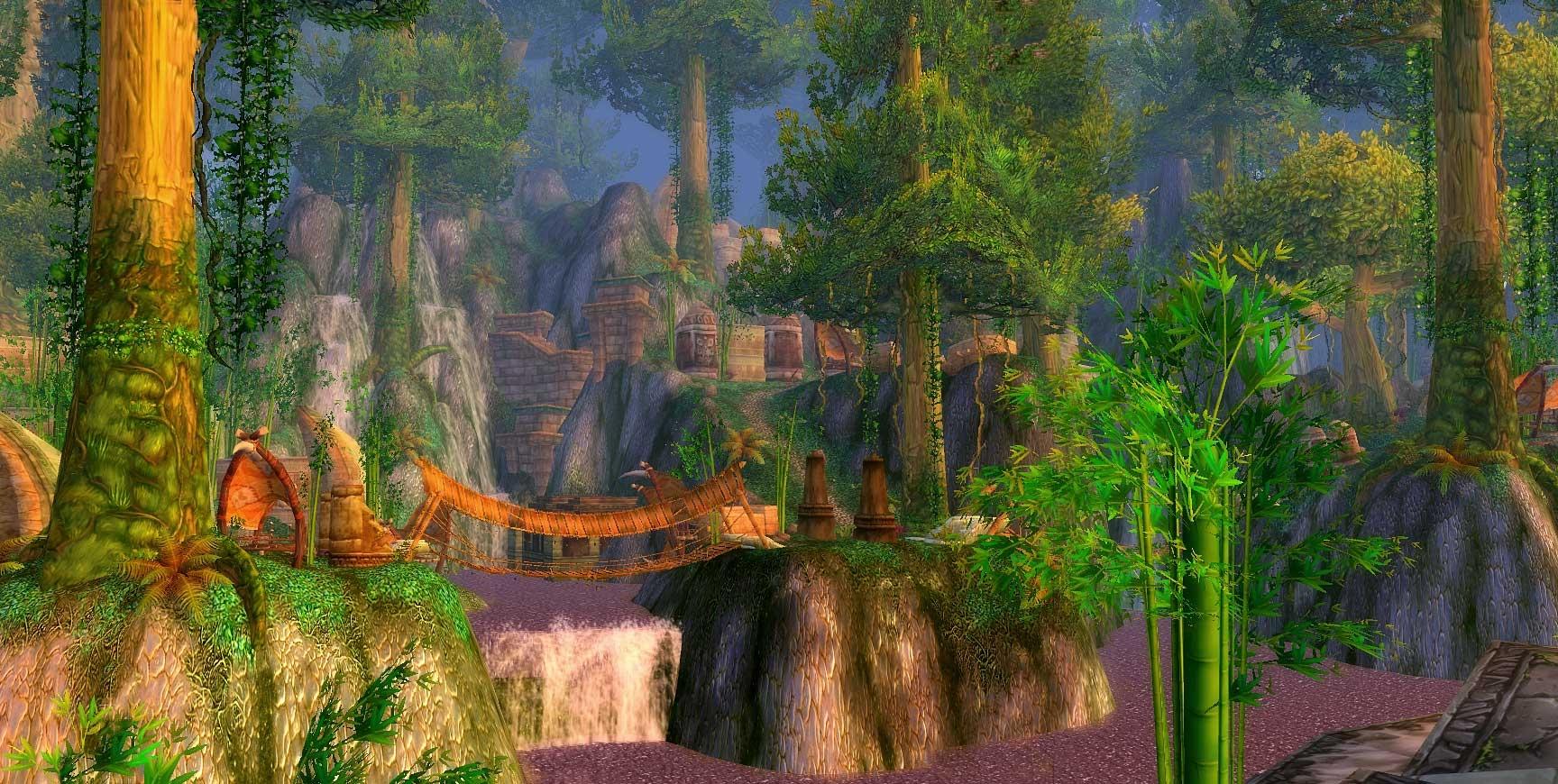 Zul'Gurub hors instance, en contournant le portail d'entrée (image de WoW-Underground)