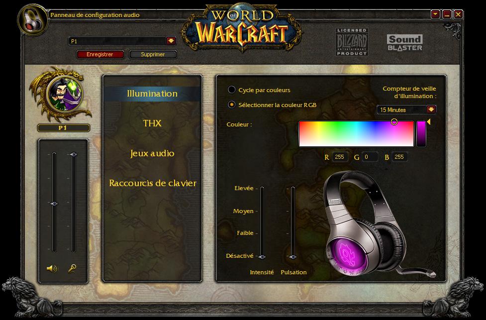 Présentation du casque Creative World of Warcraft