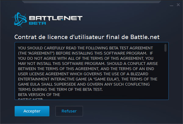 Screenshot du nouveau client Battle.net.