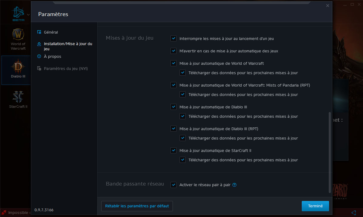 Screenshot du nouveau client Battle.net.