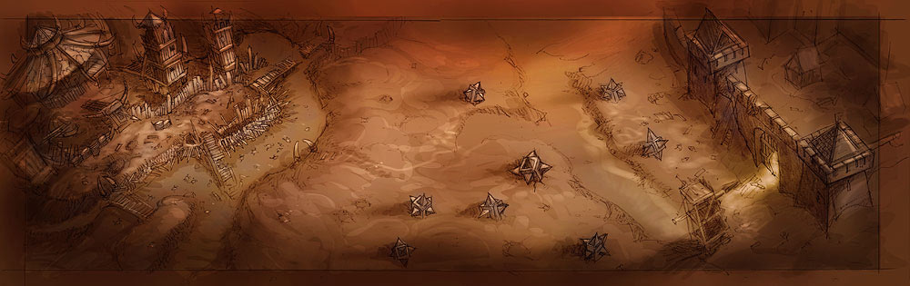 Concept art de World of Warcraft.