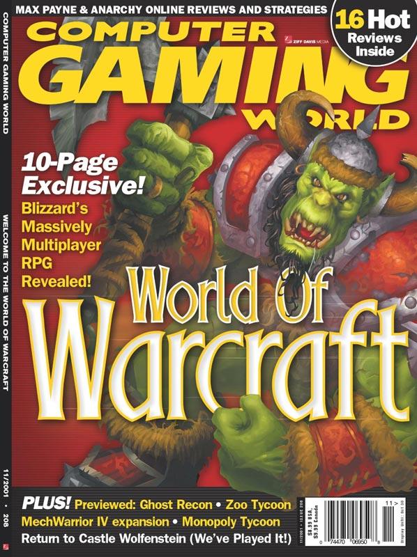 Couverture du magazine Computer Gaming World de novembre 2001
