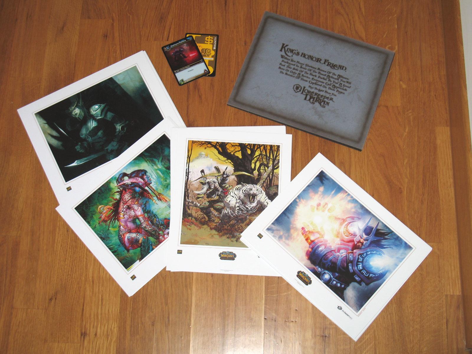 Coffret de cartes d'art Horde et Alliance du JCC World of Warcraft.