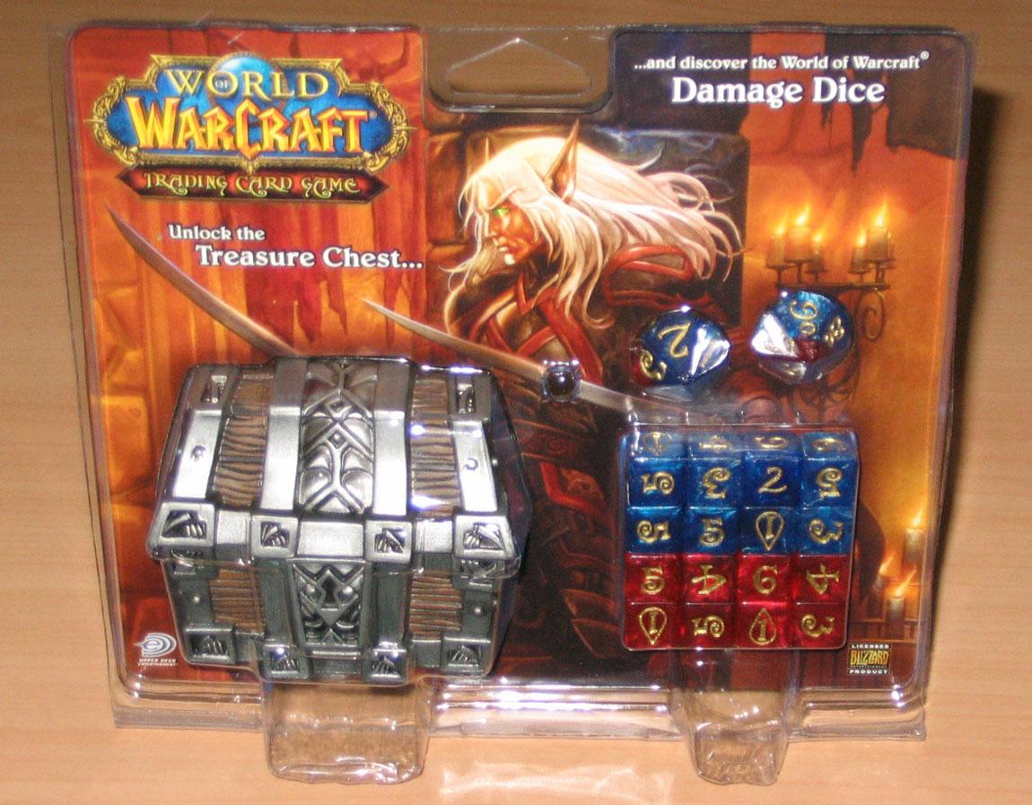 Coffre à trésor de 18 dés pour le jeu de cartes à collectionner.