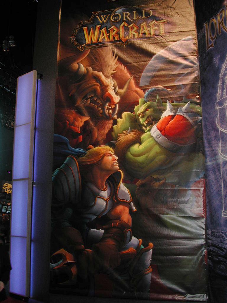 Stand de Blizzard à l'E3 2002 (Photo : GameKult)