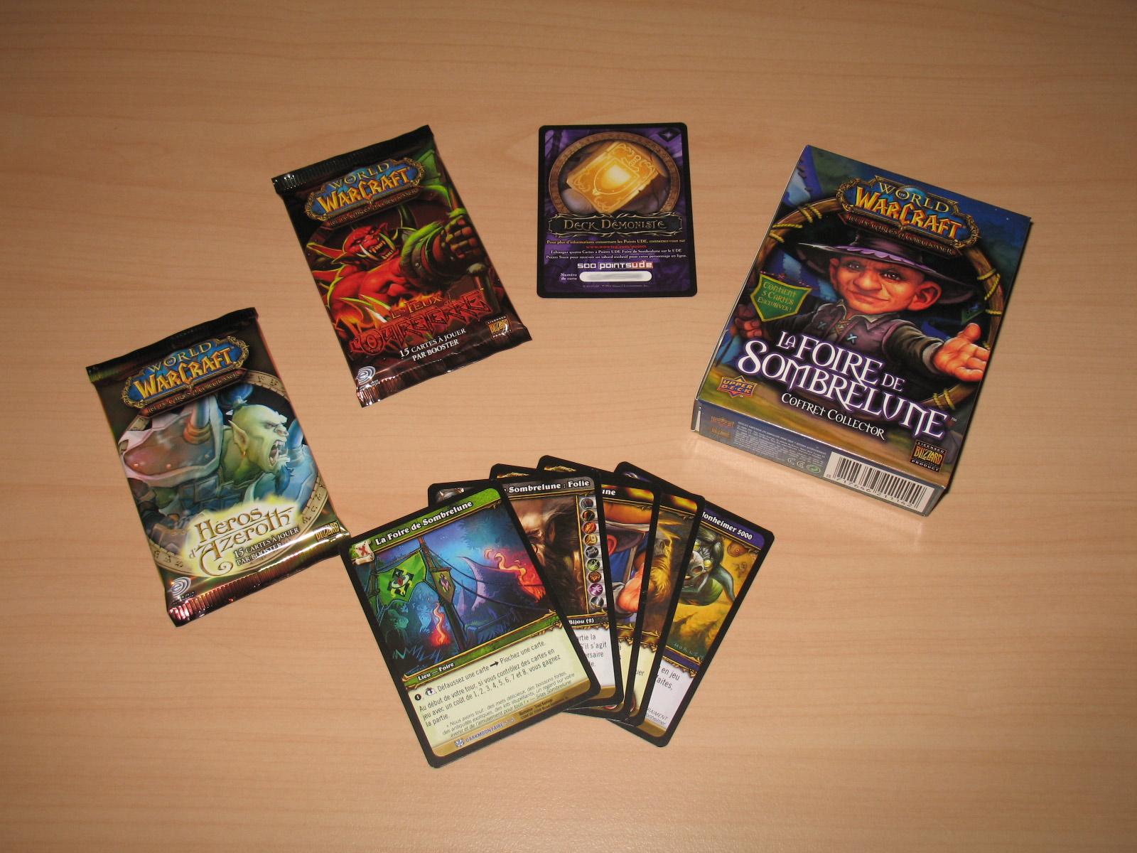 Coffret Foire de Sombrelune 2008, du jeu de cartes à collectionner édité par Upper Deck.