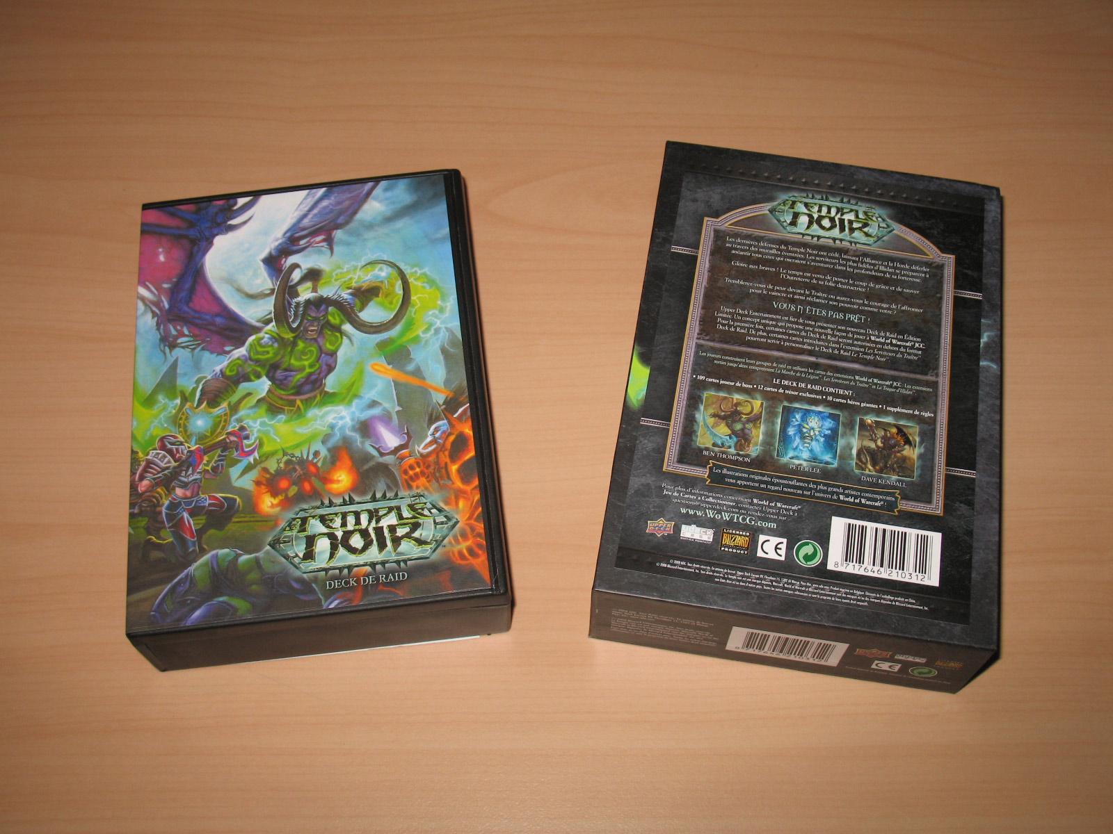 Deck de Raid Le Temple Noir, du jeu de cartes à collectionner édité par Upper Deck.