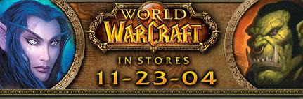 Image postée sur le Community Site pour annoncer la sortie de WoW aux USA.