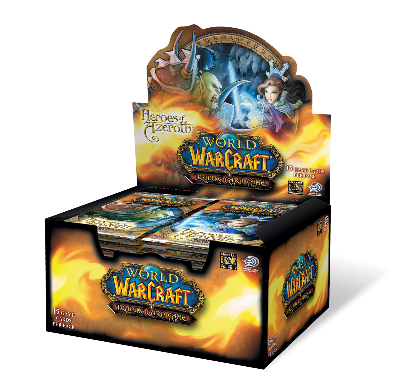 Pack de boosters du jeu de cartes à collectionner World of Warcraft.