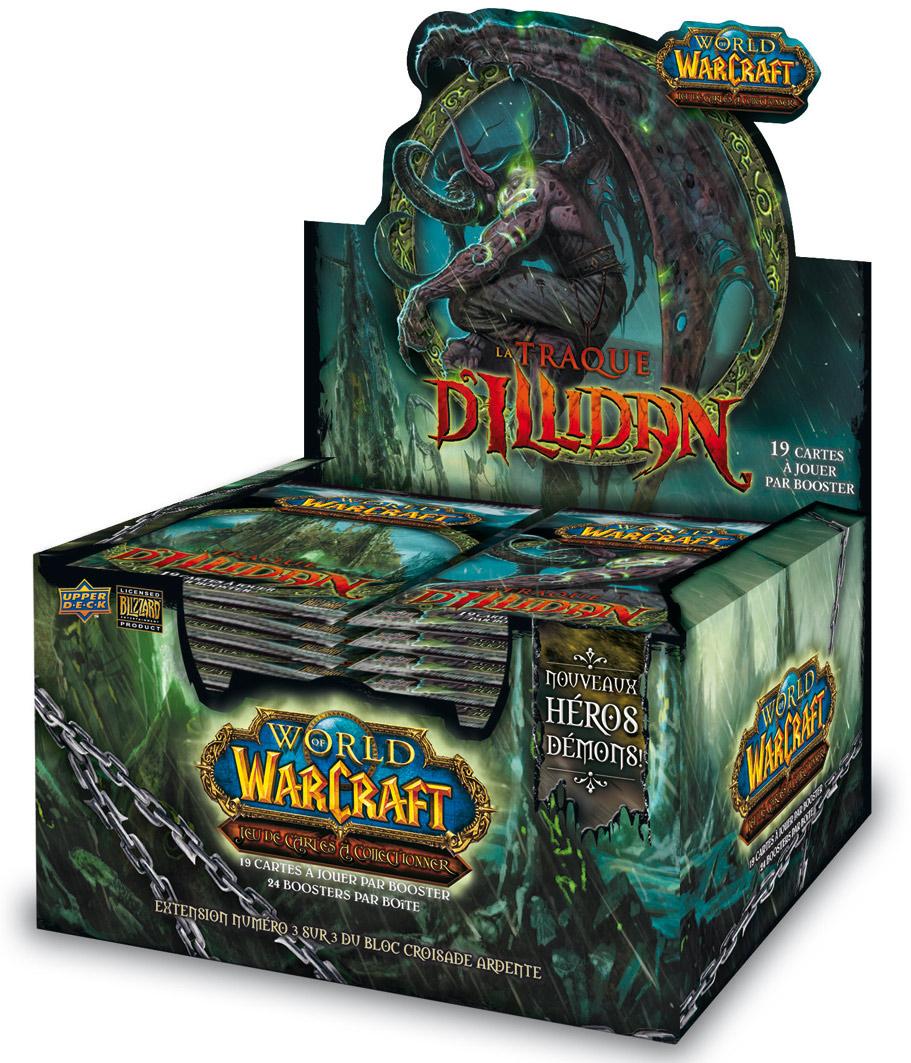 Boîte de 24 boosters La Traque d'Illidan, du jeu de cartes à collectionner WoW.