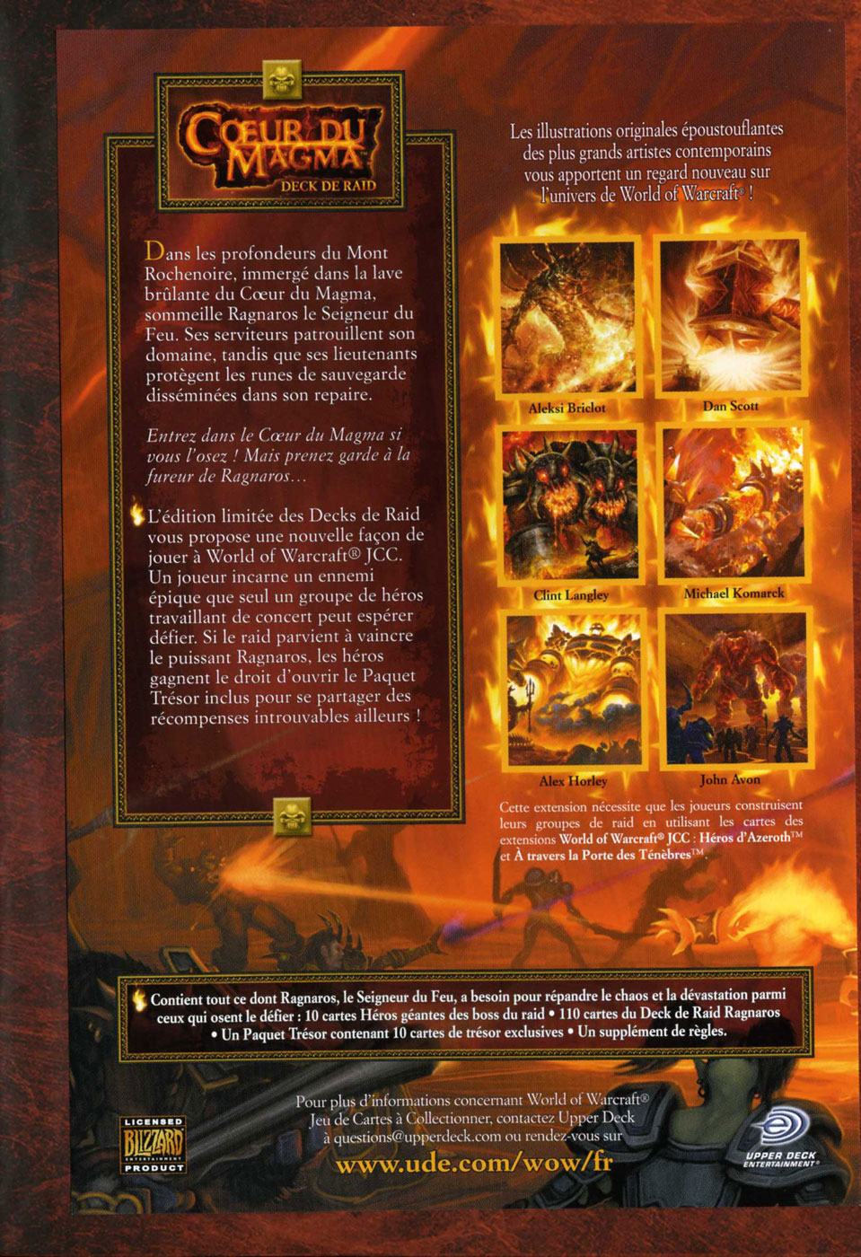 Deck de raid Coeur du Magma, du jeu de cartes à collectionner World of Warcraft.