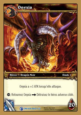 Carte tirée du Deck de Raid Onyxia pour le jeu de cartes à collectionner WoW.