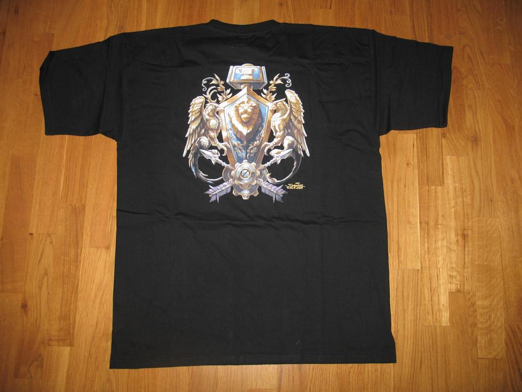 T-shirt World of Warcraft Alliance (année 2005).