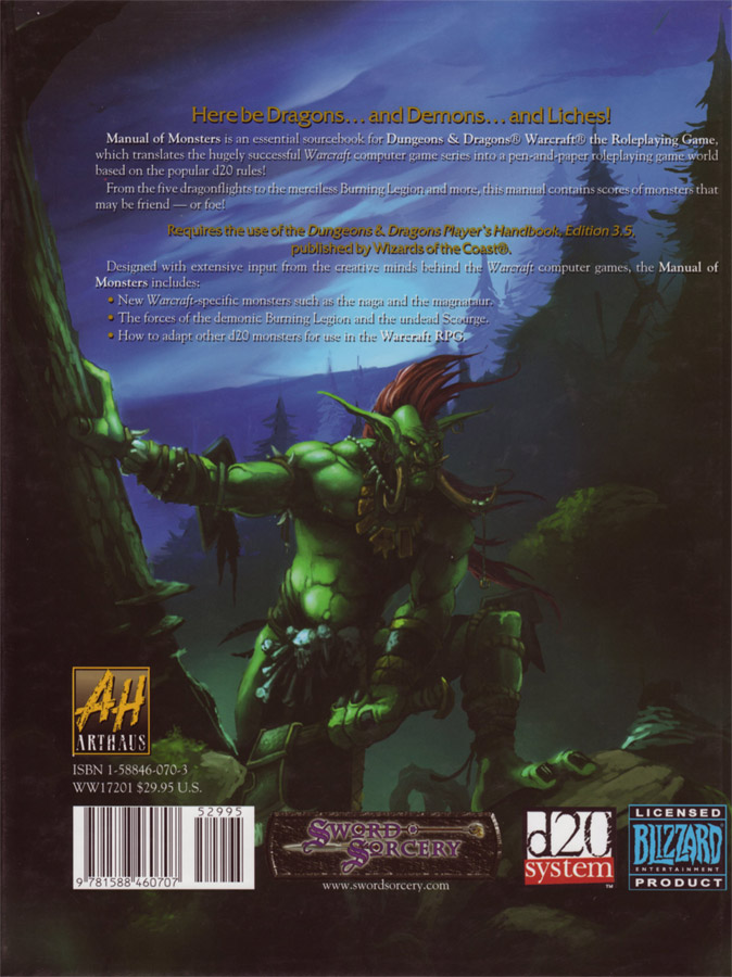 Warcraft RPG : Manual of Monsters.