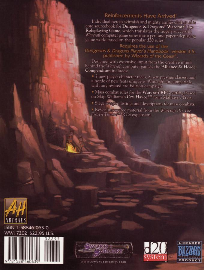 Warcraft RPG : Alliance and Horde Compendium.
