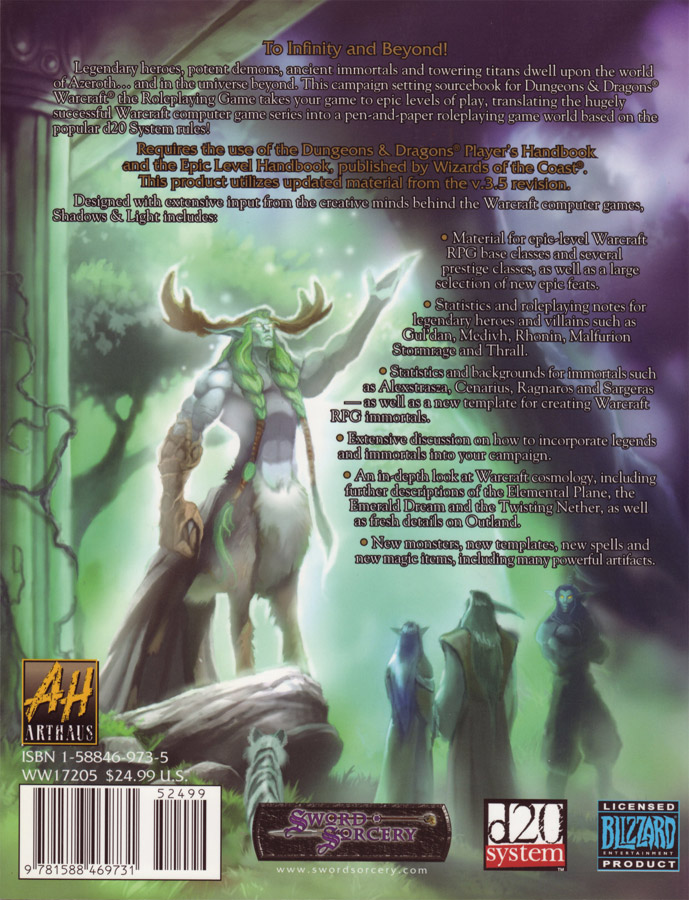 Warcraft RPG : Shadows and Light.