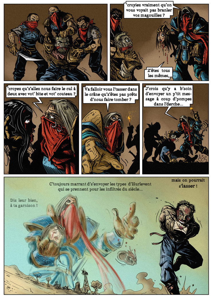 Petite bande dessinée dédiée aux Défias et réalisée par Elhebore et Selkys.