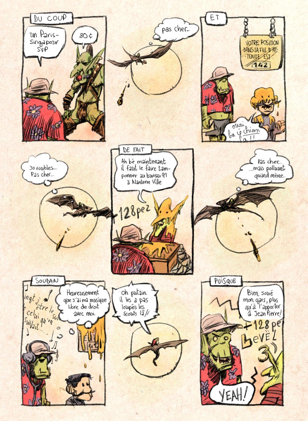 Aventures de Stevostin, tome 1 : La Porte Sombre. Planche 19.
