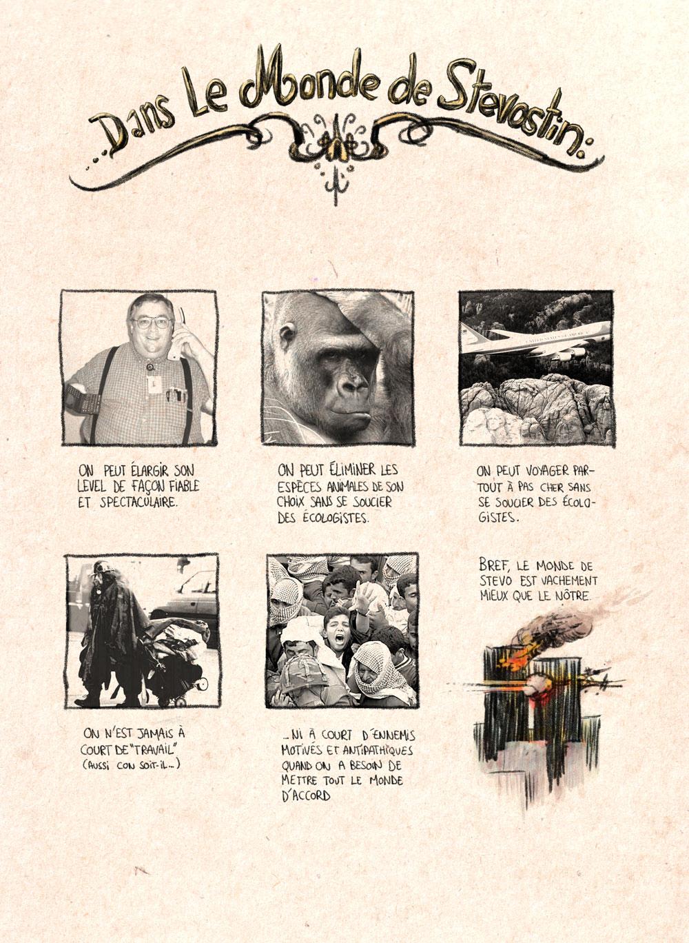 Aventures de Stevostin, tome 1 : La Porte Sombre. Planche 23.