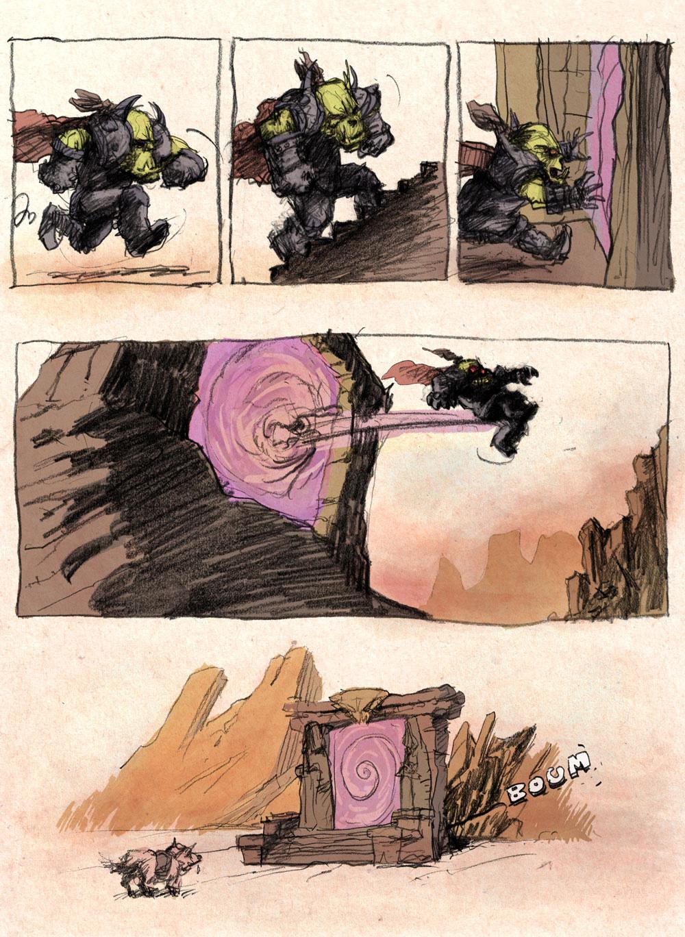 Aventures de Stevostin, tome 1 : La Porte Sombre. Planche 26.