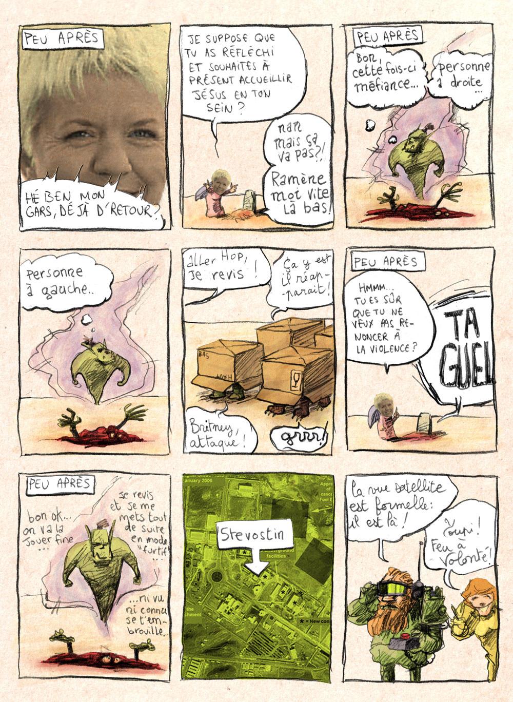 Aventures de Stevostin, tome 1 : La Porte Sombre. Planche 35.